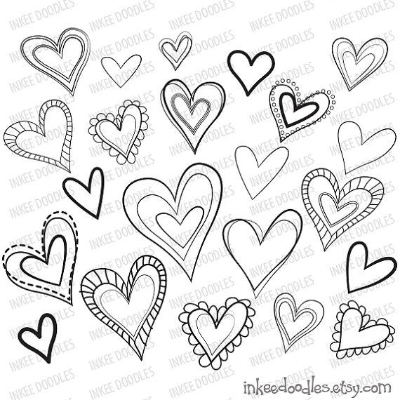 570x570 Heart Sketch Clipart