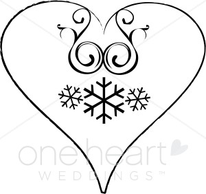 300x282 Xmas Heart Clipart Christmas Wedding Clipart