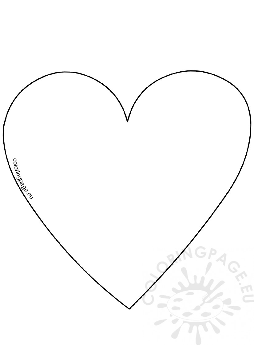 826x1122 Big Heart Template Large Heart Templates To Print Clipart Best
