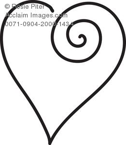 261x300 Clip Art Heart Outline Clipart Panda