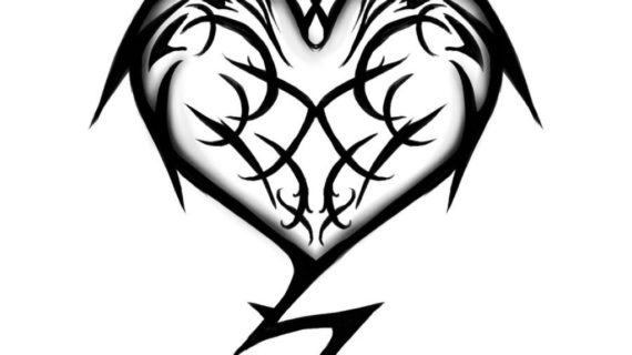 570x320 Cool Heart Drawing Cool Heart Designs To Draw Clipartsco