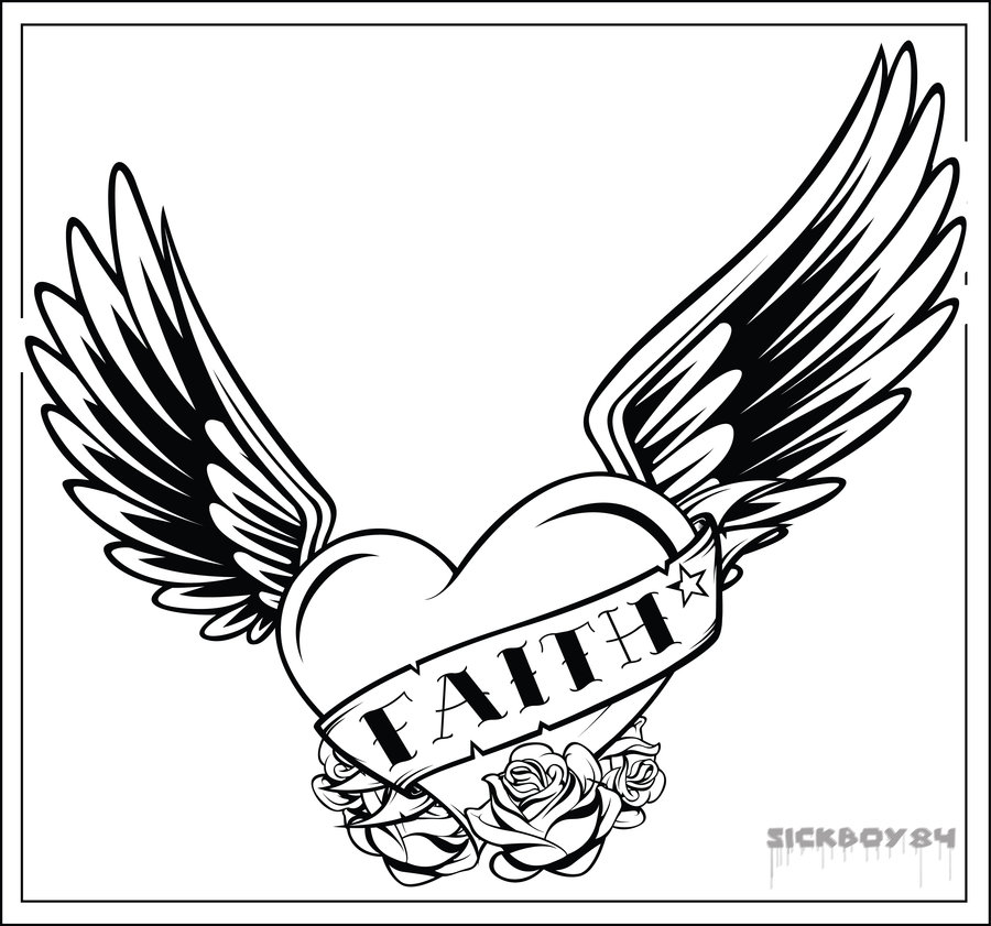 900x841 Heart With Roses Coloring Pages