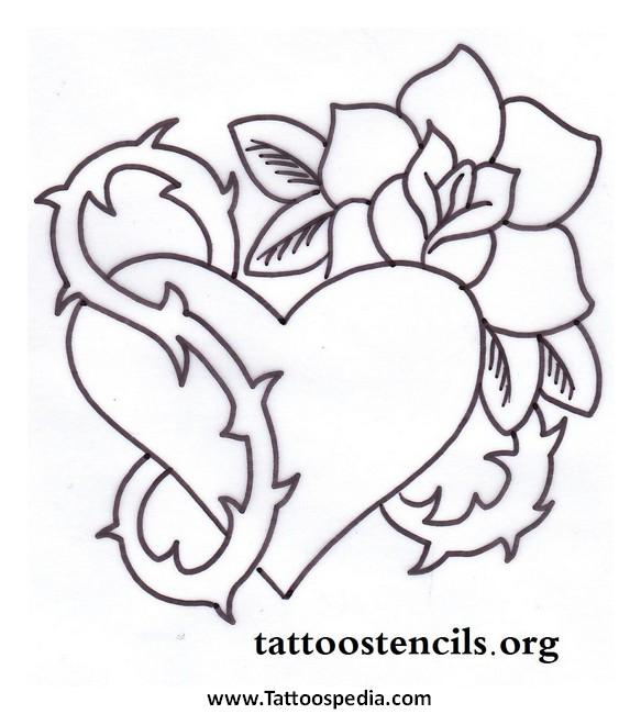 583x650 Gothic Heart Tattoo Designs