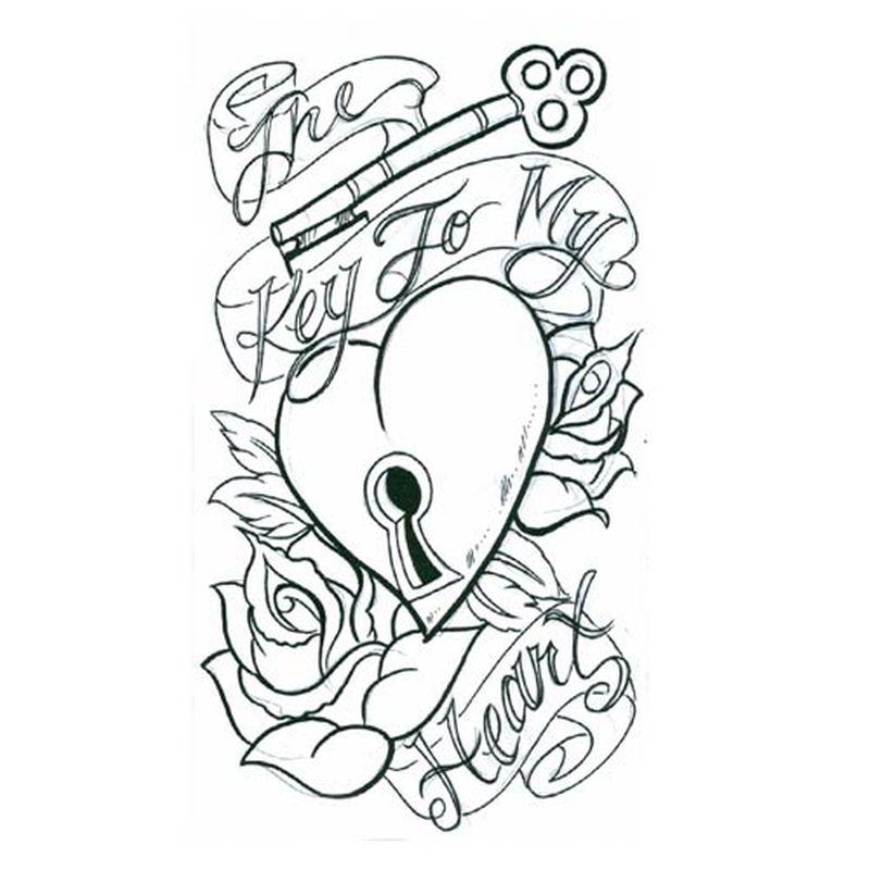 800x800 Key To My Heart Tattoo Design
