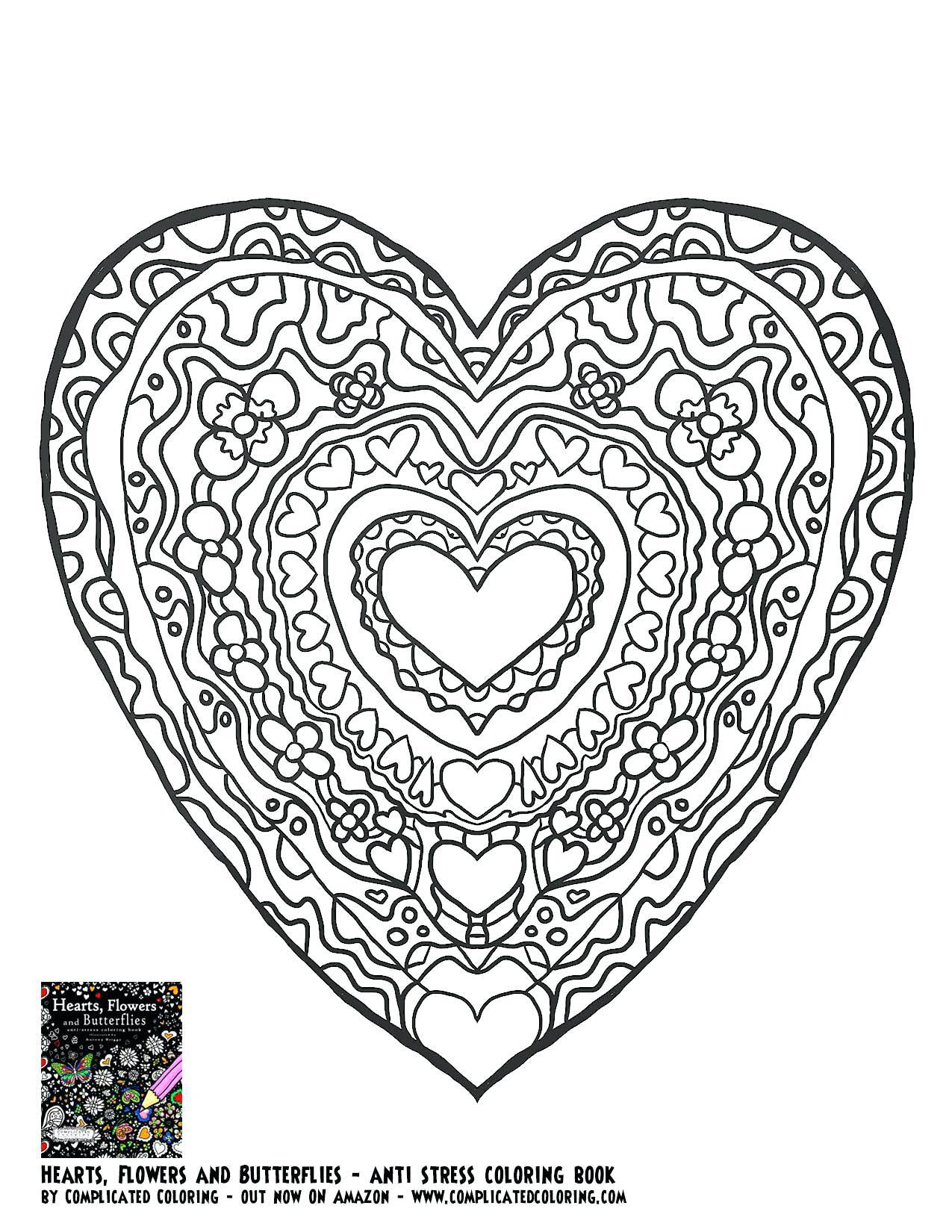 1275x1650 The Best Heart Coloring Pages Shining Ideas Of A Adult Designs