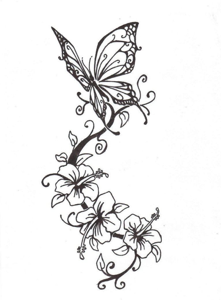 767x1042 And Butterflies And Hearts Drawings