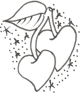 279x325 Cherry Heart Tattoos Designs