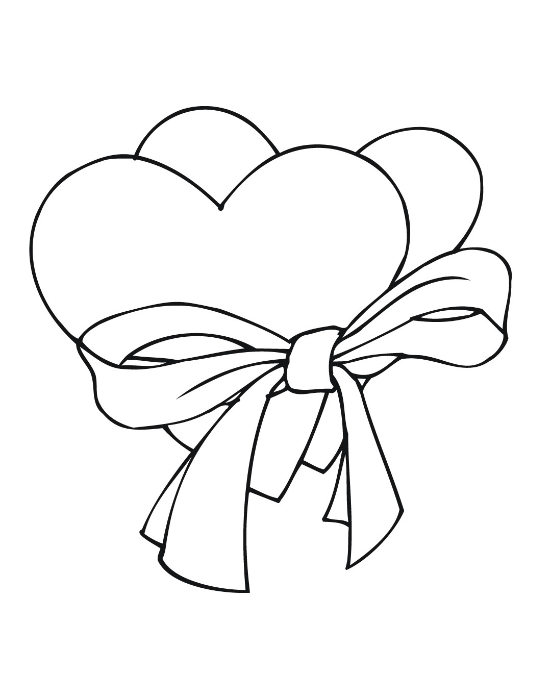 1080x1368 Heart And Roses Coloring Pages