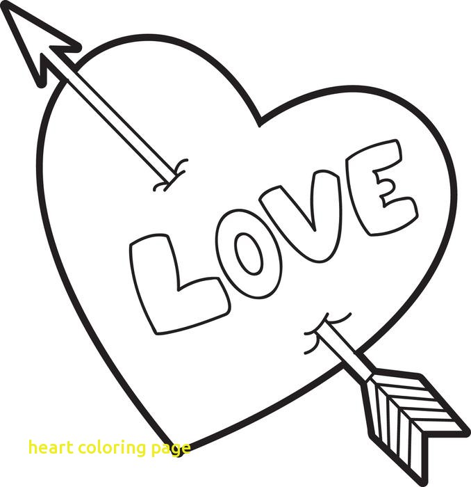 678x700 Heart Coloring Page With Free Printable Valentine Heart Coloring