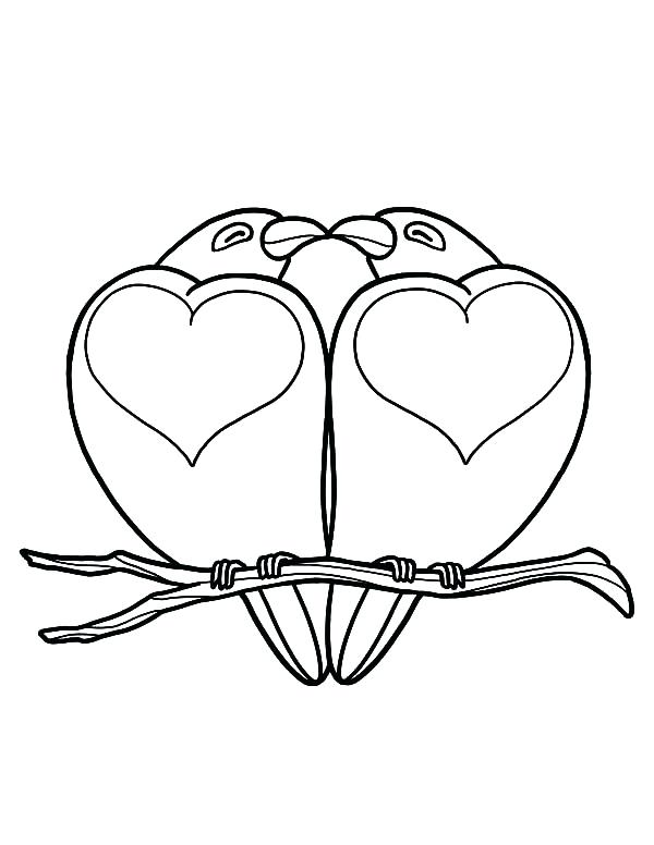 600x776 Trend Love Bird Coloring Pages Kids Heart Shaped Birds Batch