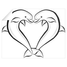 236x236 Dolphin Heart Drawing Out Lines Step 10. How To Draw Love