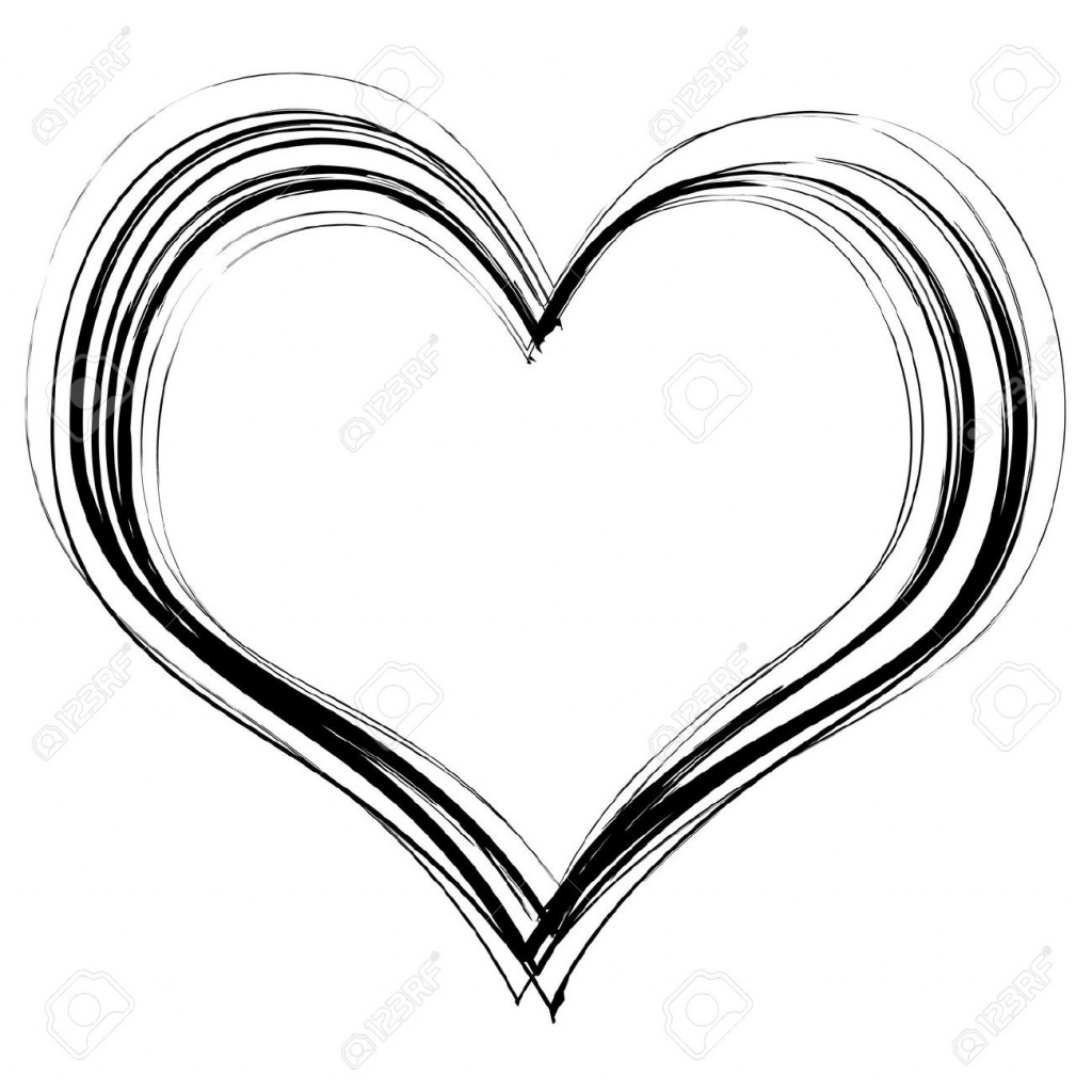 1024x1024 Heart Pencil Sketch Love Heart In Black Pencil Scribble