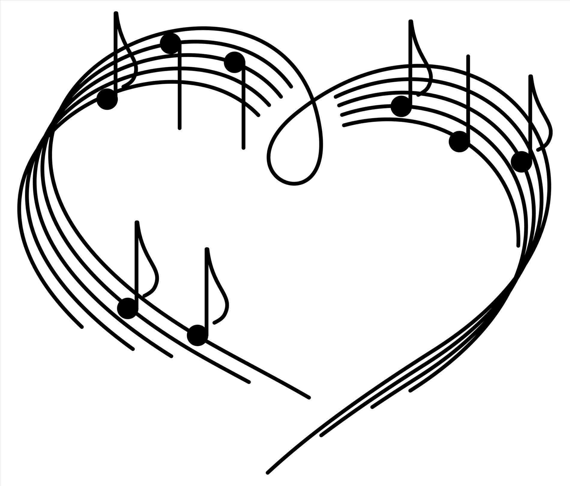 1899x1618 Free Music Note And Heart Drawings S Clipart Image Clef Stock