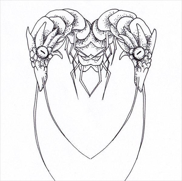 600x598 Heart Drawings