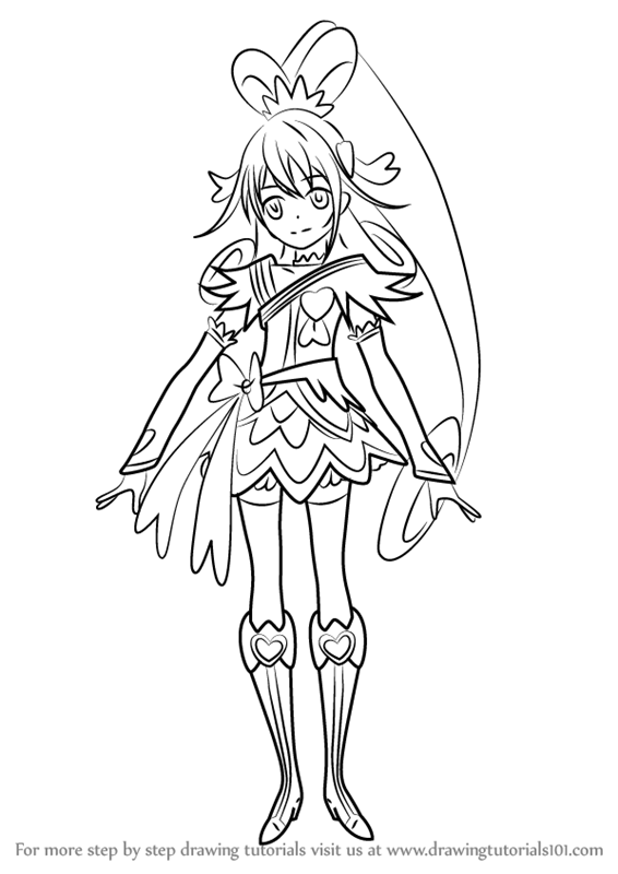 566x800 Learn How To Draw Cure Heart From Pretty Cure (Pretty Cure) Step