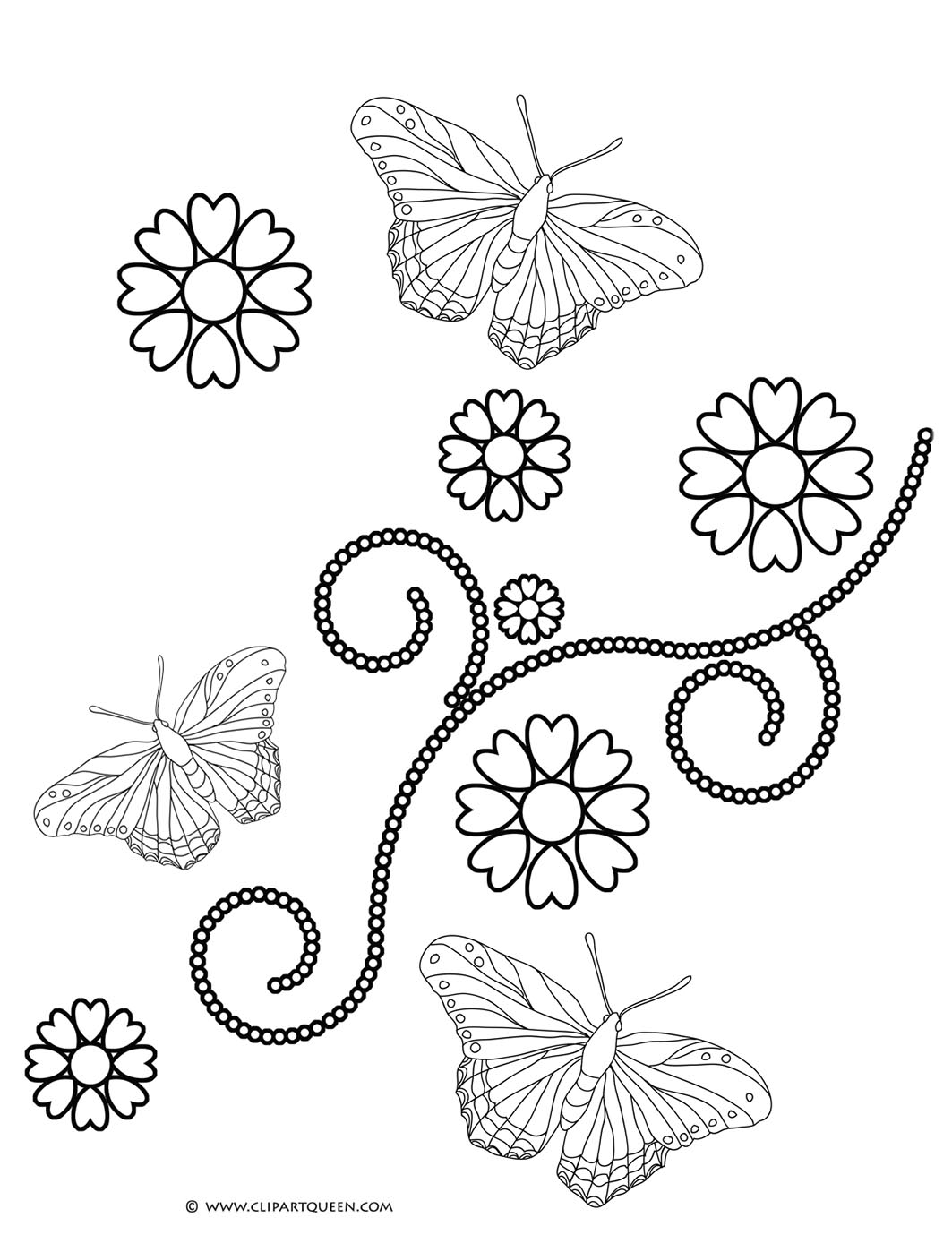 1063x1398 And Butterflies And Hearts Drawings