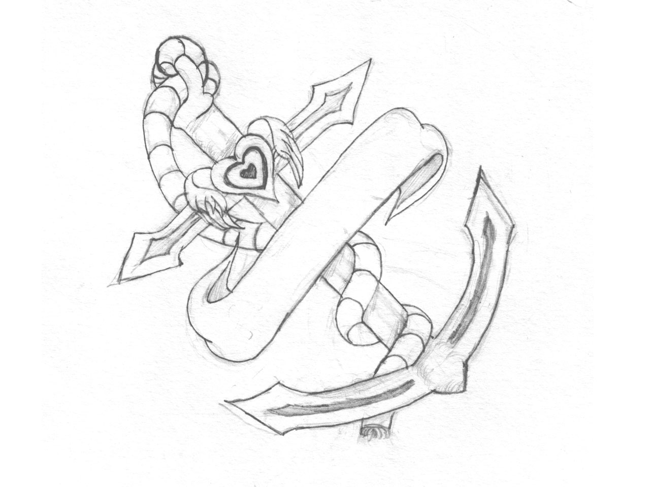 1280x960 Collection Of Octopus And Heart Tattoo Sketch