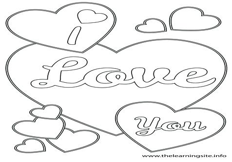 476x333 I Love U Coloring Pages Adult Coloring Pages Page Outline I Love