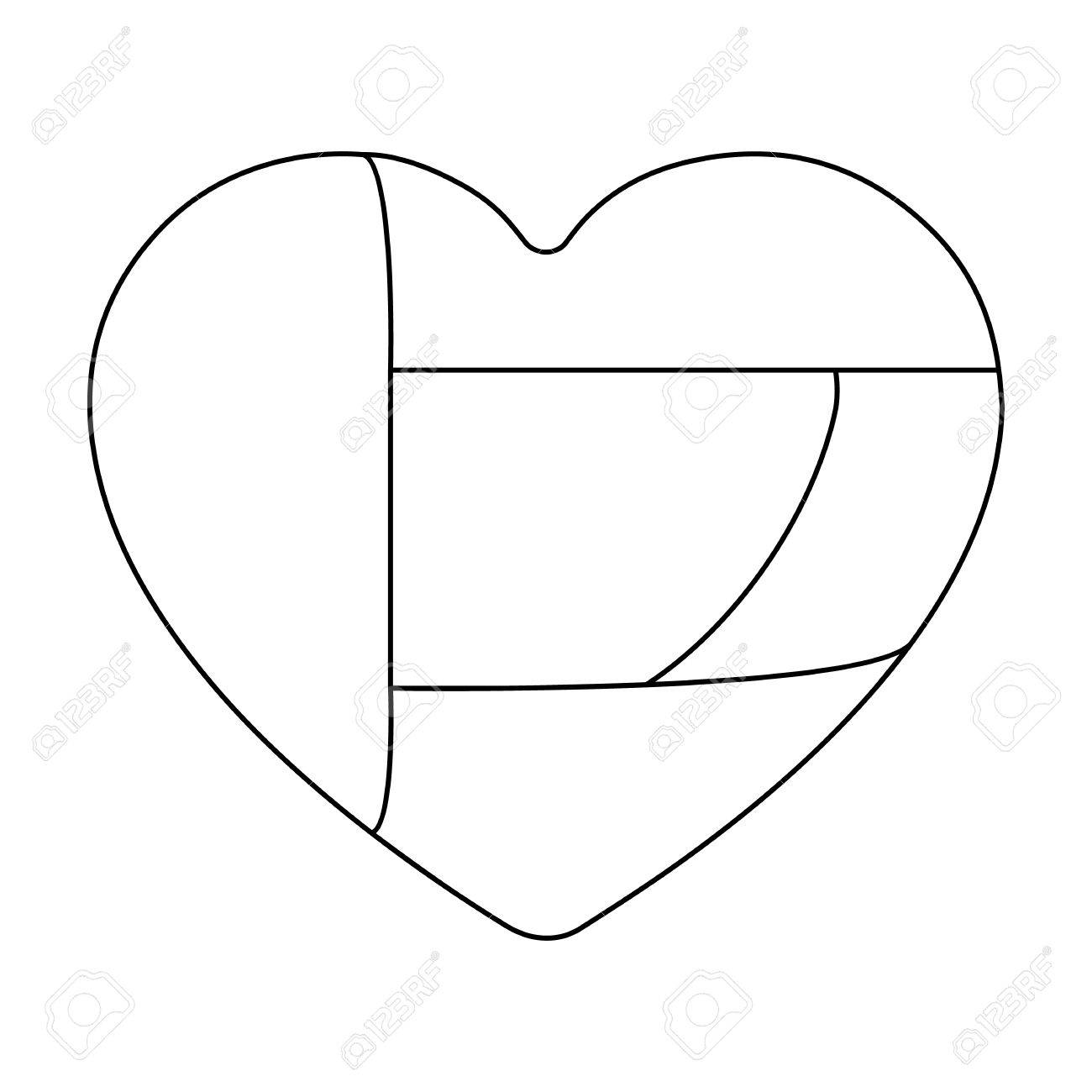 1300x1300 United Arab Emirates Heart Icon In Outline Style Isolated
