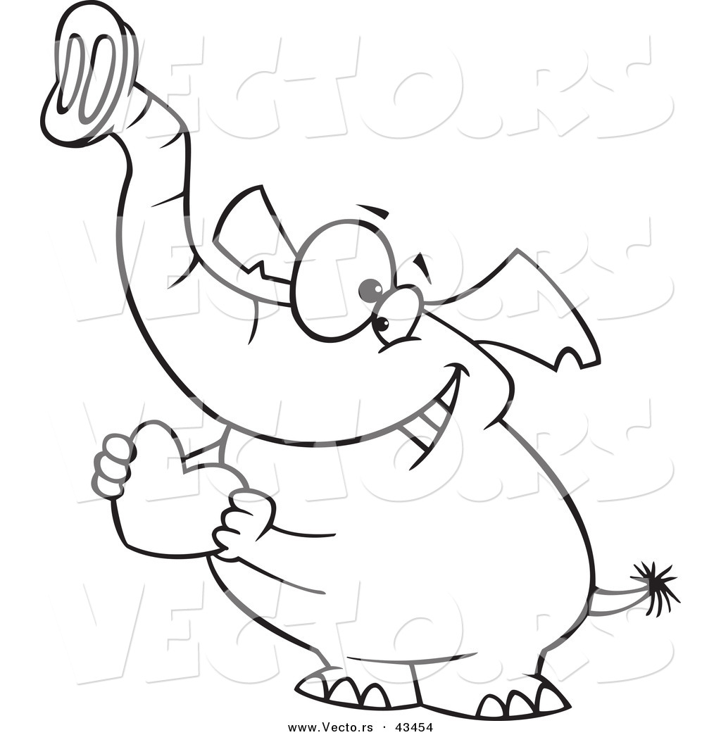 1024x1044 Vector Of A Loving Cartoon Elephant Holding A Valentine Love Heart