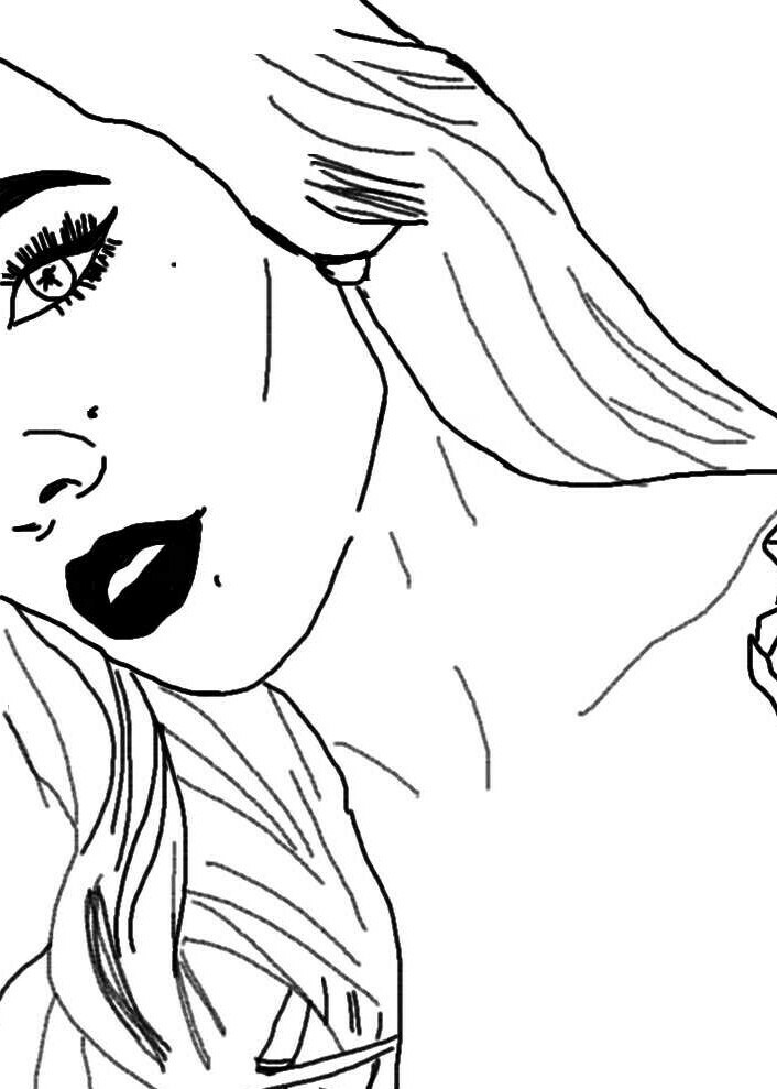 706x989 Halsey Outline Drawing Uploaded By Paigey !! On We Heart It