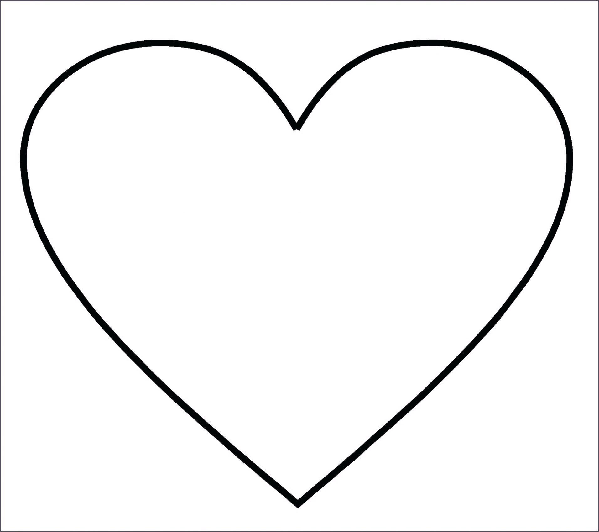 It is an image of Lucrative Heart Outlines Printable