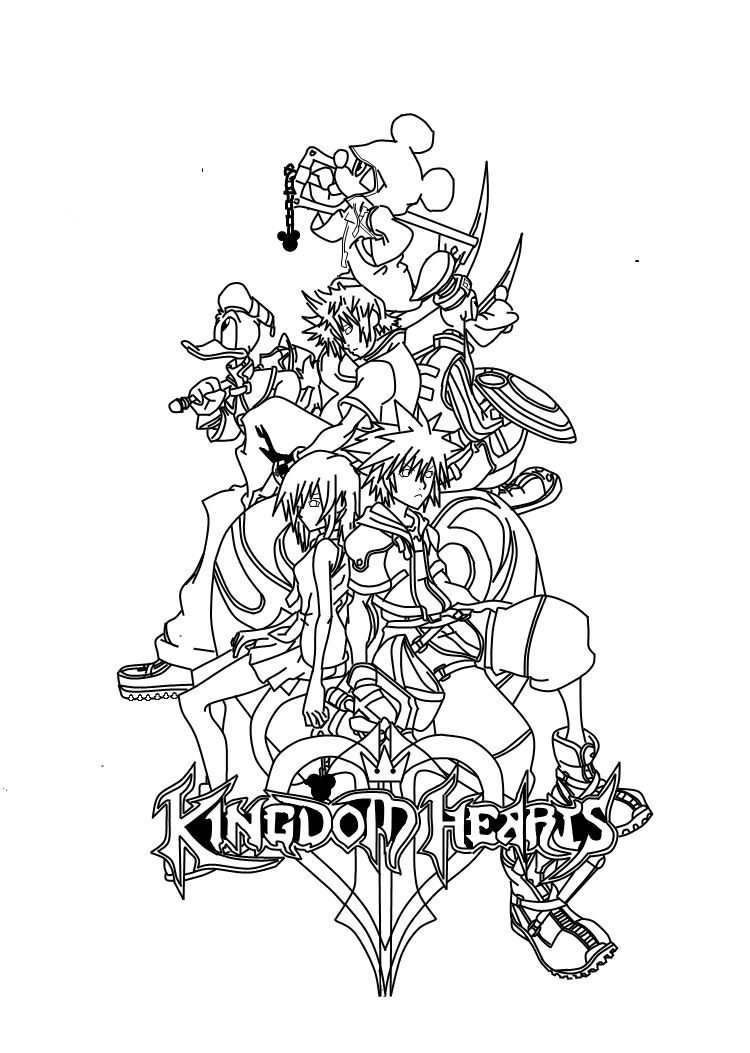 Heart Coloring Page Free Printable 750x1053 Kingdom Hearts Pages ADULT COLORING BOOK PAGESMore Pins
