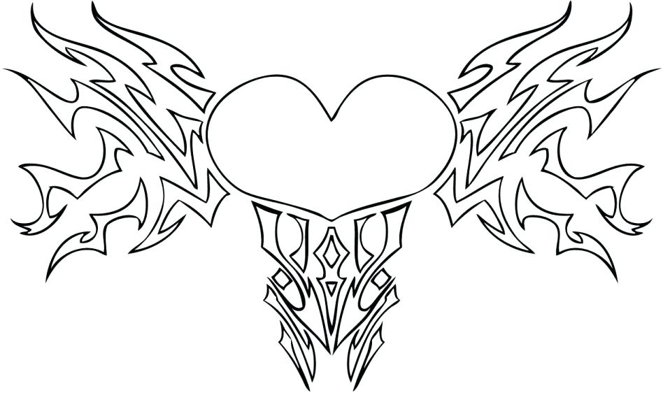 948x562 Coloring Pages Of Flowers And Hearts Cool Coloring Hearts How