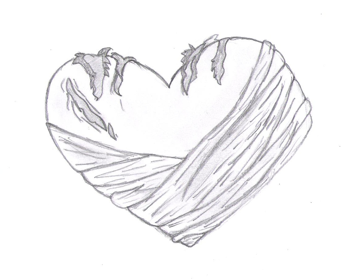 1120x912 Drawn Hearts Bleeding Heart