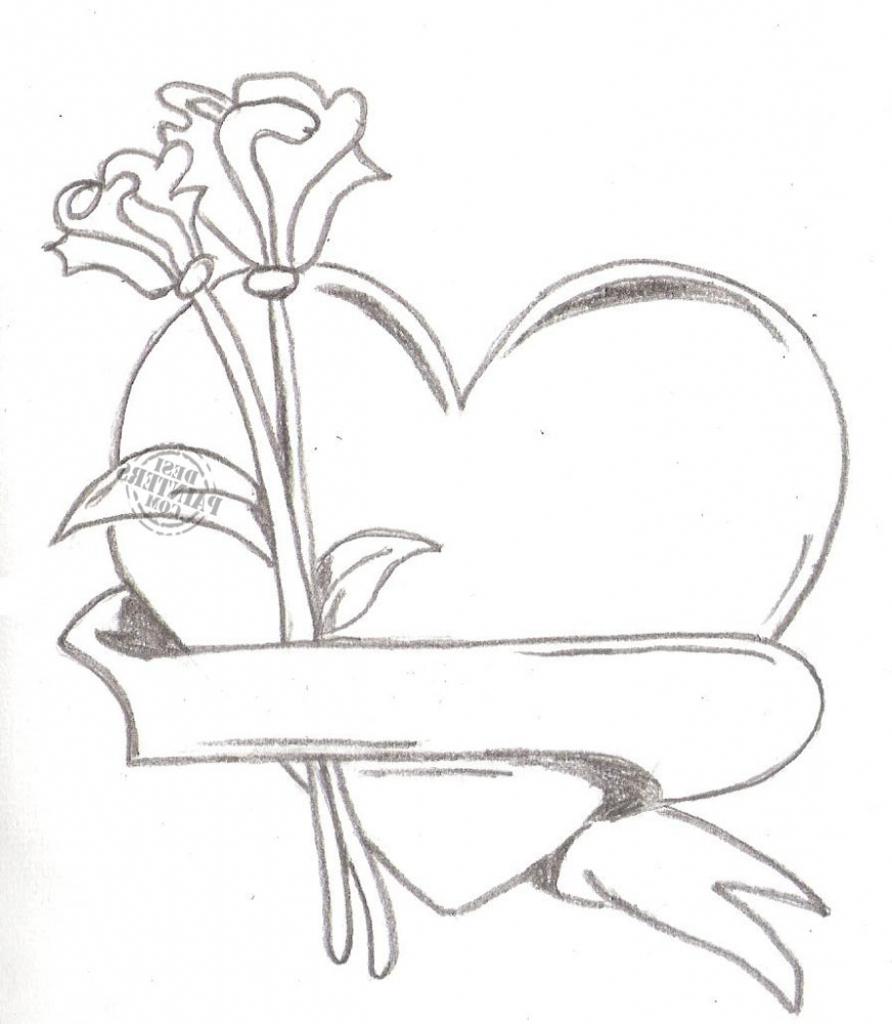 892x1024 Pencil Drawings Of Love Hearts Pencil Drawings Of Love Hearts