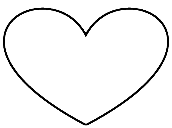 600x449 Heart Outline Stencil Free Images