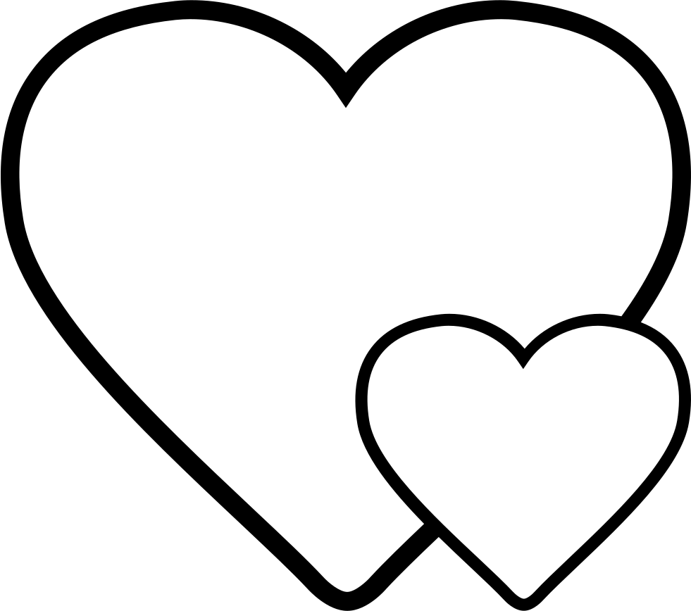 981x868 Hearts Svg Png Icon Free Download ( 33064)