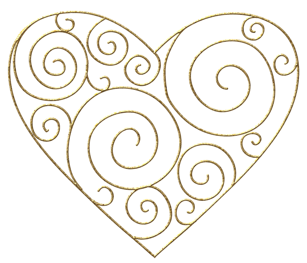 1079x923 Transparent Gold Deco Heart Png Clipart Pictureu200b Gallery
