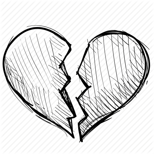 512x512 Breakup, Broken, Crack, Divorce, Heart, Heartbreak, Love Icon
