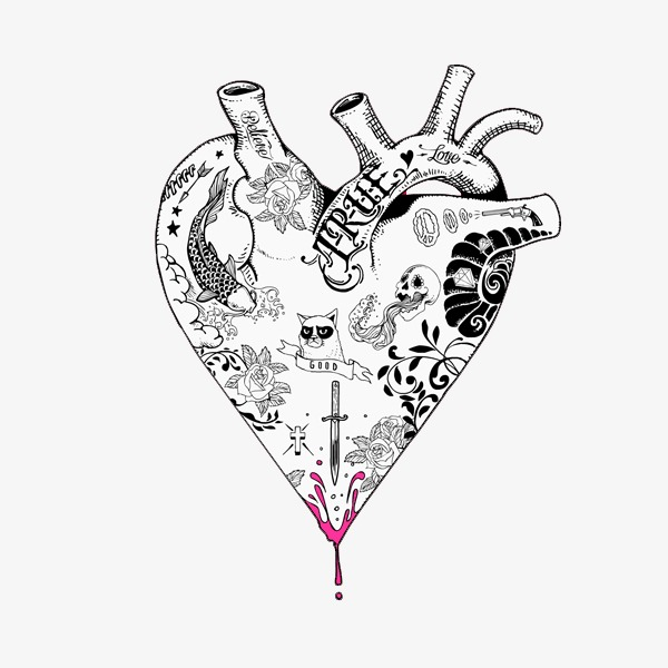 600x600 Creative Heart Shaped Illustration Design, Creative, Illustration