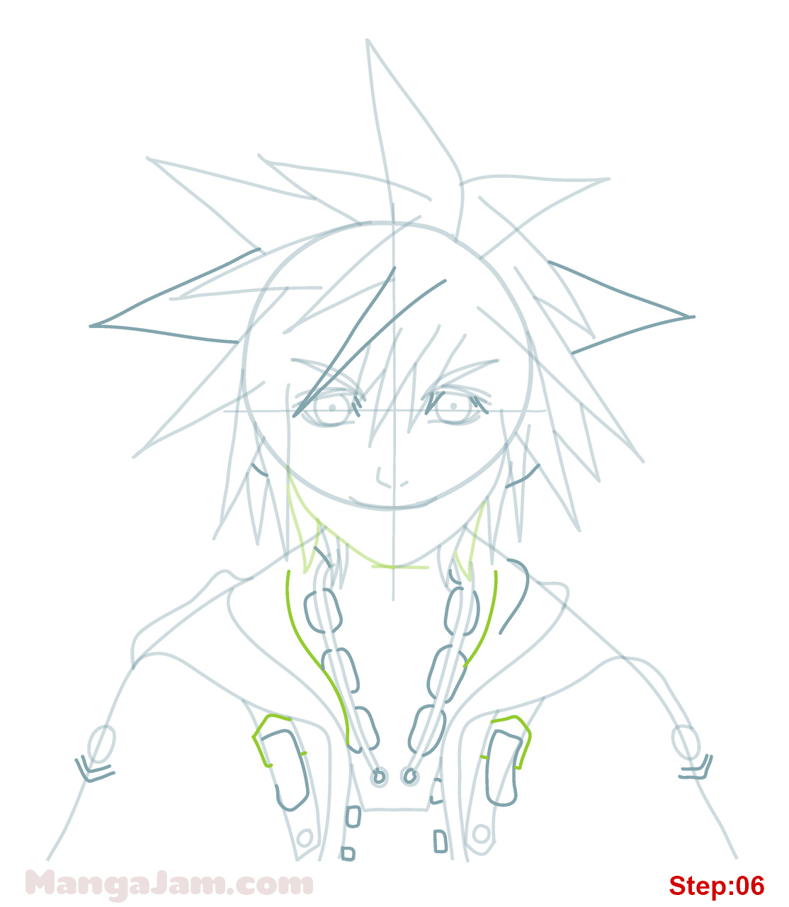 1114x1280 How To Draw Sora From Kingdom Hearts