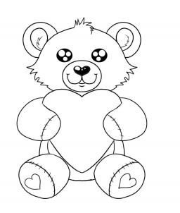256x302 How To Draw A Valentines Day Heart Bear, Step By Step, Valentines