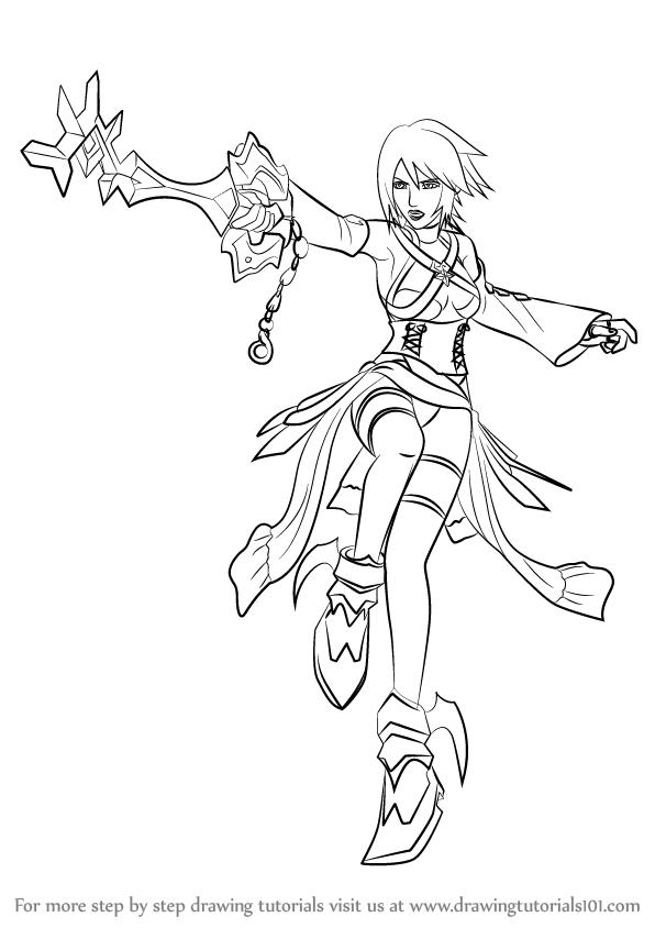 596x844 Learn How To Draw Aqua From Kingdom Hearts (Kingdom Hearts) Step