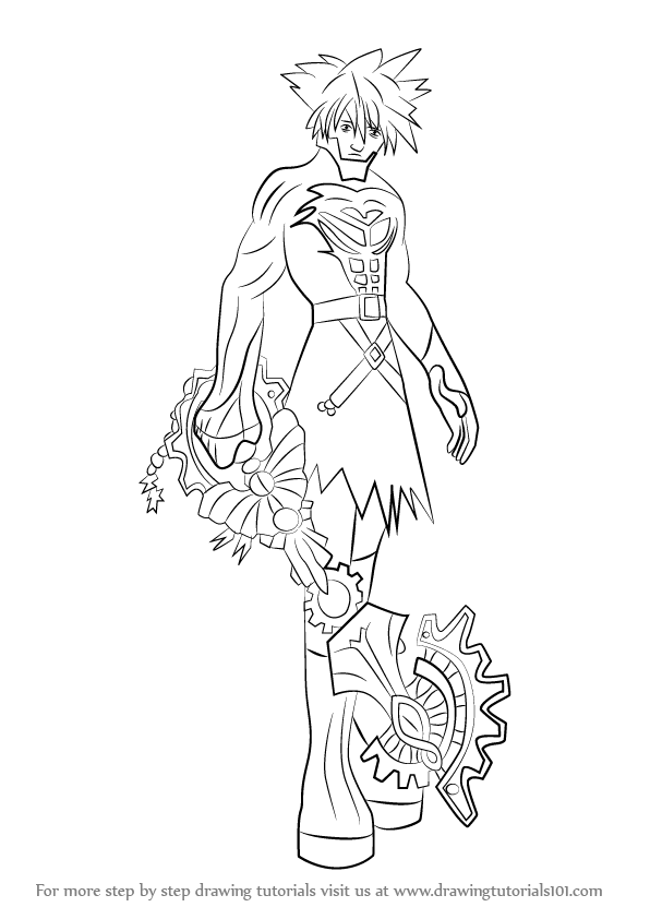 596x842 Step By Step How To Draw Vanitas From Kingdom Hearts