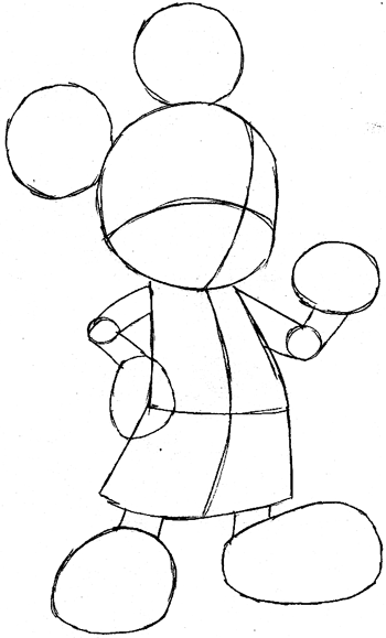350x579 How To Draw King Mickey From Kingdom Hearts With Easy Step By Step