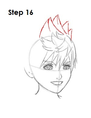 300x388 How To Draw Roxas (Kingdom Hearts)