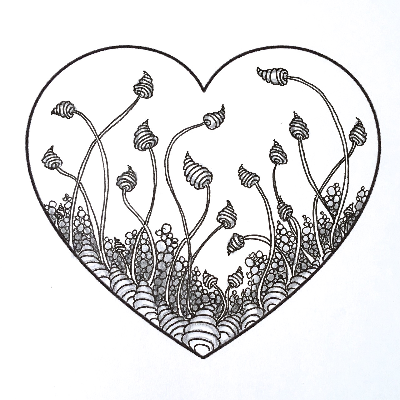 1280x1280 Zentangle Valentine's Heart Series Designs 2016 Always Choose