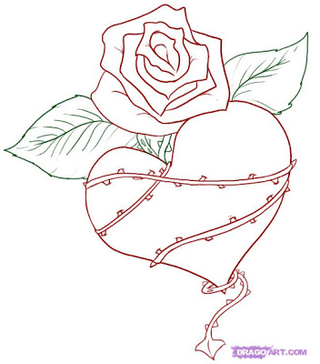 352x400 Gips Sketch Graffiti Heart Flower