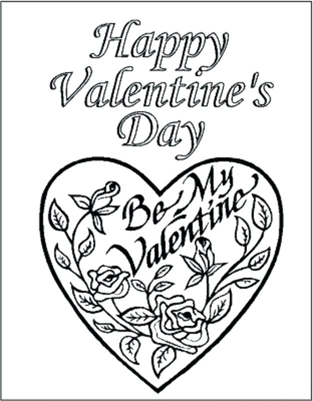 624x800 Luxury Hearts And Flowers Coloring Pages New Heart Flower