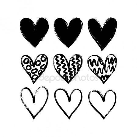 450x450 Hand Drawn Hearts Stock Vector Barkarola