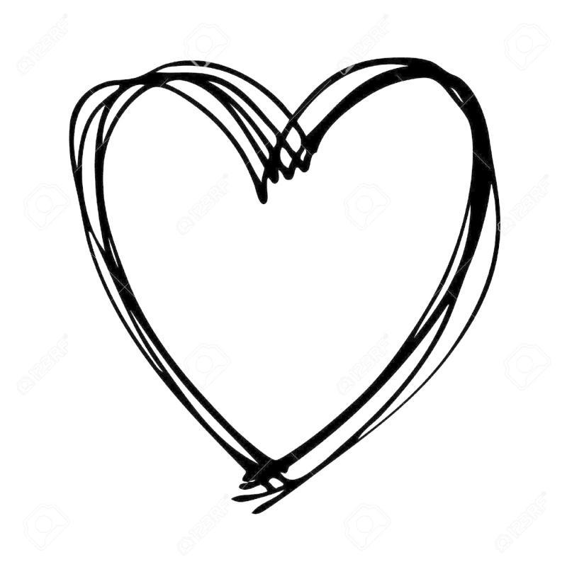 800x800 Hand Drawn Heart Clipart