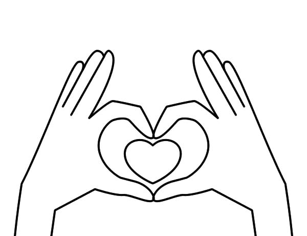 600x460 Hands Forming Heart Coloring Pages Best Place To Color