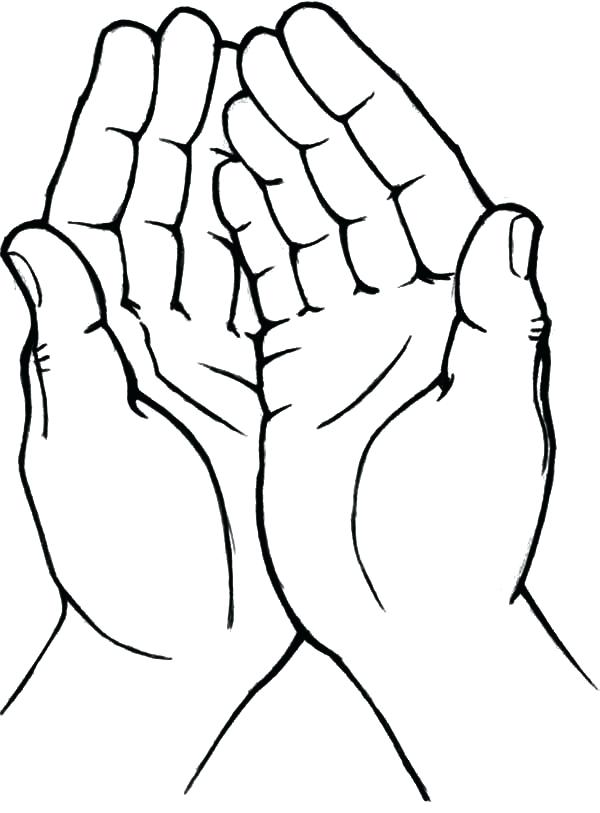 600x813 Helping Hands Coloring Page Drawing Hand
