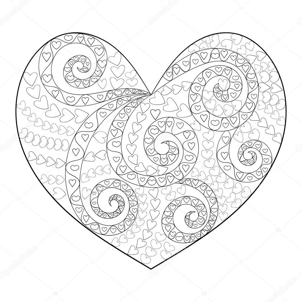 1024x1024 Cute Heart With High Details. Stock Vector Lezhepyoka