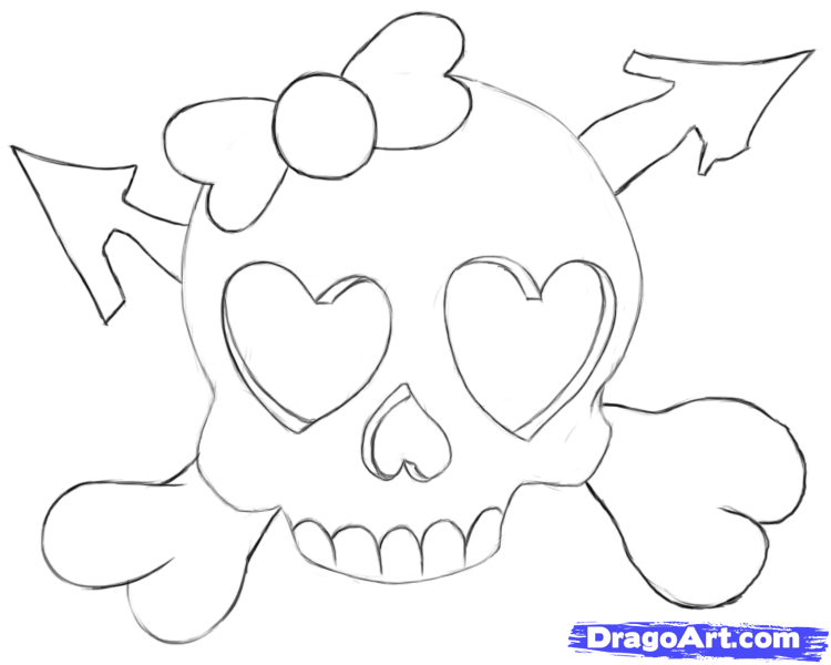 750x600 Drawn Skull Heart